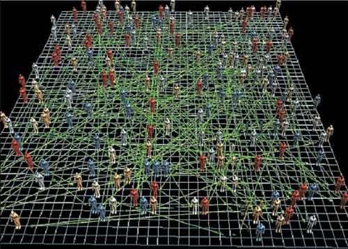 Abb.1:  Beispiel für Agentenbasierte Simulation