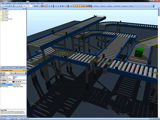 Abbildung 3: SIM3D Simulation zur CAVE Darstellung